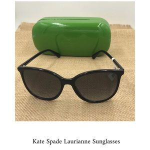 Kate Spade NY Laurianne Black Sunglasses NWT